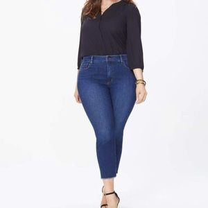 Nydj Sheri Cooper fray hem denim jeans 12